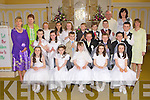 Children from Currow NS who received their First Holy Communion in the church of the Immaculate Conception, Currow on Saturday