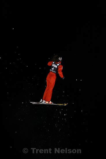 Trent Nelson  |  The Salt Lake Tribune.Xin Zhang, China, Aerials competition at the FIS Freestyle World Cup at Deer Valley, Friday, January 15, 2010.