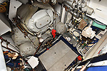 Pictured: The Pinnace 199's boiler room.<br /> <br /> An historic 100 year old Royal Navy steam ship has finally been returned to its former glory after a painstaking restoration process.<br /> <br /> The 50ft-long Steam Pinnace 199 is believed to be the last remaining boat of its type in operational service.<br /> <br /> For years, the significance of the boat, which was built in 1911, was lost on various owners and it languished at the side of the Thames for more than 20 years as a static houseboat.<br /> <br /> Her steam engine was even replaced by a petrol engine.<br /> <br /> However, before the vessel disappeared forever beneath a Thames mud bank, she was recognised for the proud little ship she once was and rescued by a group of volunteers, who called themselves Group 199.   SEE OUR COPY FOR DETAILS.<br /> <br /> © Morten Watkins/Solent News & Photo Agency<br /> UK +44 (0) 2380 458800
