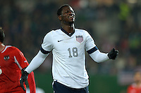 VIENNA, Austria - November 19, 2013: Eddie Johnson during the international friendly match between Austria and the USA at Ernst-Happel-Stadium.