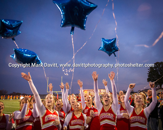 Carlisle was busy Friday evening hosting Norwalk for a pivotal football game, Veteran's Hero Night and Senior Night. Carlisle senior cheerleaders celebrated their time together with a balloon release.
