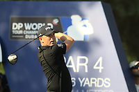 Matt Wallace (ENG) on the 16th tee during the final round of the DP World Tour Championship, Jumeirah Golf Estates, Dubai, United Arab Emirates. 18/11/2018<br /> Picture: Golffile | Fran Caffrey<br /> <br /> <br /> All photo usage must carry mandatory copyright credit (© Golffile | Fran Caffrey)