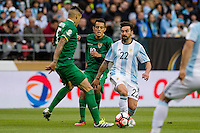Seattle, WA - Tuesday June 14, 2016: Argentina forward Ezequiel Lavezzi (22) looks for a pass during a Copa America Centenario Group D match between Argentina (ARG) and Bolivia (BOL) at CenturyLink Field