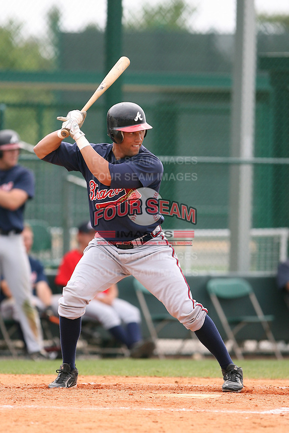 March 22nd 2008:  Stephen Shults of the Atlanta Braves minor league system during a Spring Training camp day at Disney's Wide World of Sports in Orlando, FL.  Photo by:  Mike Janes/Four Seam Images