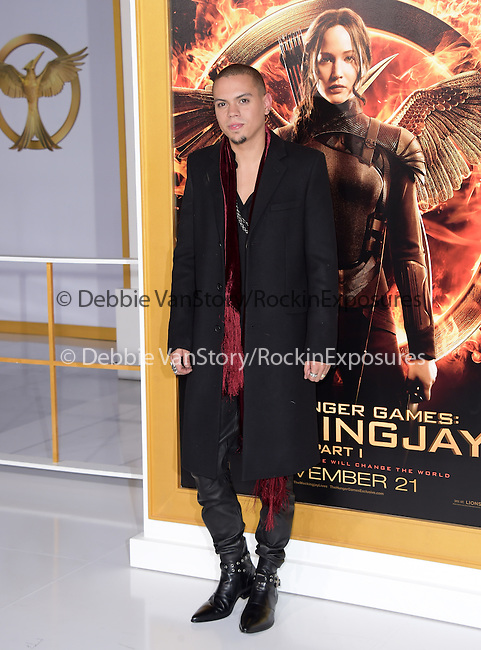 Evan Ross  at The  Los Angeles Premiere of The Hunger Games: Mockingjay - Part 1 held at  Nokia Theatre L.A. Live in Los Angeles, California on November 17,2014                                                                               © 2014 Hollywood Press Agency