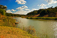 The spring fed Pedernales River flows west to east across the central Texas Hill Country and joins the Colorado at Lake Travis.