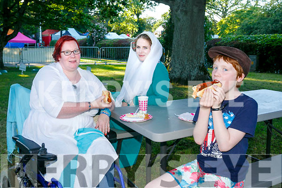 Enjoying the Kerry Medieval Group's Bbq In The Park Fundraiser on saturday were Niamh Dunne, Catherine Morrow and Joshua Dunne.