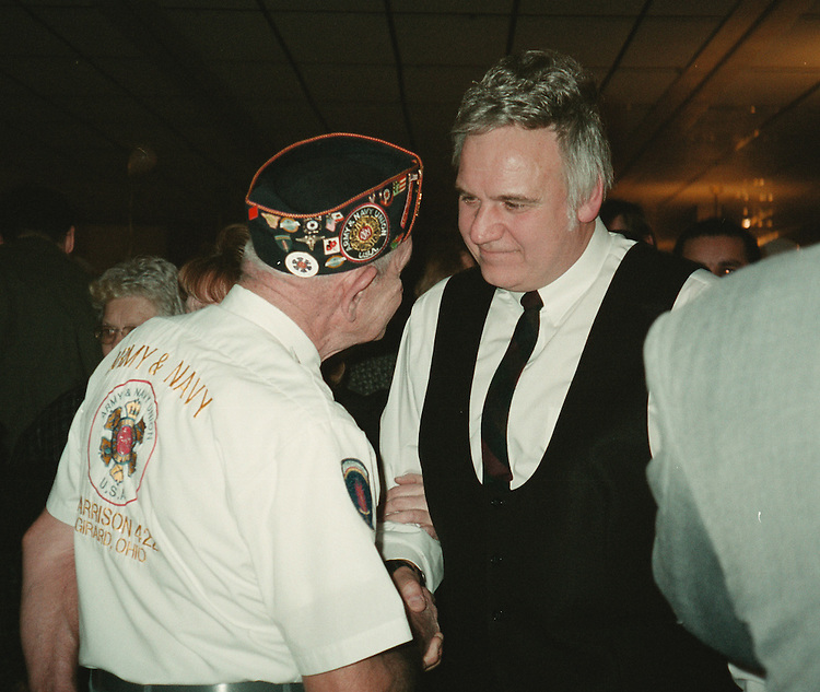 RC20000223-500-RvD: February 21, 2000: Rep. Jim Traficant, D-OH, on a campaign stop in Ohio.                 Rachel Van Dongen/Roll Call