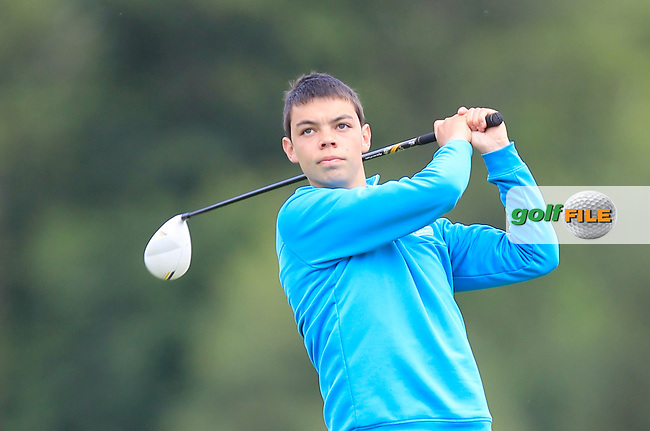 Darragh Fitzgerald (Limerick) on the 4th tee during Day 2 of the Irish Youths Amateur Close Championship at Claremorris Golf Club on Thursday 29th August 2013 <br /> Picture:  Thos Caffrey/ www.golffile.ie