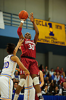 LOS ANGELES, CA - December 31, 2011:  Stanford's Nnemkadi Ogwumike during play against the UCLA Bruins at the Wooden Center.   Stanford defeated UCLA, 77 - 50.