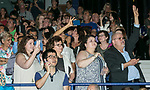 Family and friends search for their graduates Sunday, June 11, 2017, during the DePaul University Driehaus College of Business commencement ceremony at the Allstate Arena in Rosemont, IL. (DePaul University/Jamie Moncrief)