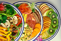 Variety of healthy dining dishes