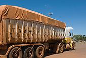 Canarana, Mato Grosso State, Brazil. Soya truck.