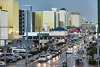Hotels along Atlantic Avenue in Virginia Beach, Virginia, USA