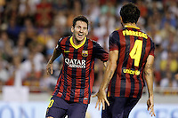 FC Barcelona's Leo Messi (l) and Cesc Fabregas celebrate goal during La Liga match.September 1,2013. (ALTERPHOTOS/Acero) <br /> Football Calcio 2013/2014<br /> La Liga Spagna<br /> Foto Alterphotos / Insidefoto <br /> ITALY ONLY