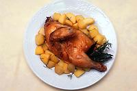 Pollo e patate..Chicken and potatoes...