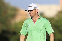 Michael Hoey (NIR) on the 8th green during Thursday's Round 1 of the 2016 Portugal Masters held at the Oceanico Victoria Golf Course, Vilamoura, Algarve, Portugal. 19th October 2016.<br /> Picture: Eoin Clarke | Golffile<br /> <br /> <br /> All photos usage must carry mandatory copyright credit (&copy; Golffile | Eoin Clarke)