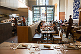 CANADA, Vancouver, British Columbia, people have lunch at the Four Seasons restaurant Yew