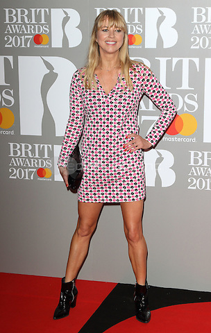 Sara Cox at The BRIT Awards 2017 at The O2, Peninsula Square, London on February 22nd 2017<br /> CAP/ROS<br /> &copy; Steve Ross/Capital Pictures /MediaPunch ***NORTH AND SOUTH AMERICAS ONLY***