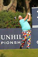 John Daly (USA) on the 12th tee during Round 3 of the 2015 Alfred Dunhill Links Championship at Kingsbarns in Scotland on 3/10/15.<br /> Picture: Thos Caffrey | Golffile
