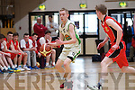 Mark O'Shea captain of the Colaiste na Sceilge U19's who were defeated by Ashbourne Community School 48 -38 in a thrilling match seen in action here.