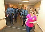 State Police Officers visit children at the K. Hovnanian Children's Hospital in Neptune, NJ on Monday April 18, 2016