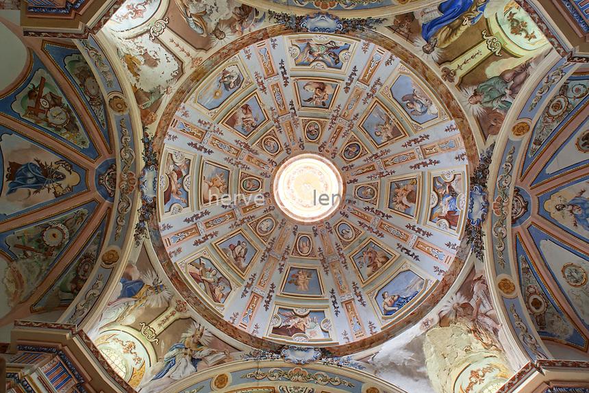 France, Savoie (73), Peisey-Nancroix, chapelle des Vernettes // France, Savoie, Peisey Nancroix, chapel of Vernettes, baroque inside, the dome