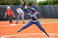 11 February 2012:  FIU's Ashley McClain (2) pitches as the University of Louisville Cardinals defeated the FIU Golden Panthers, 4-2, as part of the COMBAT Classic at the FIU Softball Complex in Miami, Florida.