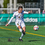 3 October 2015: University of Vermont Catamount Midfielder Gideon Rosenthal, a Senior from Bronx, NY, in action against the Binghamton University Bearcats at Virtue Field in Burlington, Vermont. The Catamounts were unable to complete a late game rally, falling to the Bearcats 2-1 in America East conference play. Mandatory Credit: Ed Wolfstein Photo *** RAW (NEF) Image File Available ***