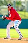 18 March 2007: Washington Nationals third baseman Ryan Zimmerman takes field drills prior to facing the Florida Marlins at Space Coast Stadium in Viera, Florida...Mandatory Photo Credit: Ed Wolfstein Photo