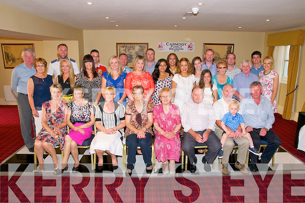 Carmody Family Gathering: The Carmody family from Skeheneerin, Listowel pictured at their clan gathering at The Listowel Arms Hotel on Saturday night last.
