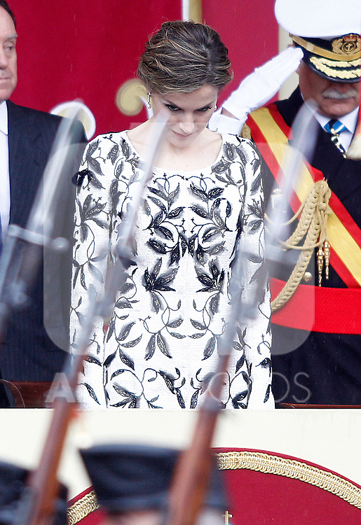 Queen Letizia of Spain attends the National Day military parade. October 12 ,2016. (ALTERPHOTOS/Acero)
