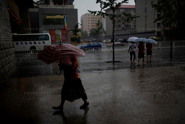 Down pour in Beijing, China on Thursday, August 14, 2008.  Kevin German