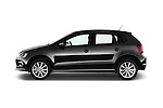 Car Driver side profile view of a 2014 Volkswagen POLO SPORTLINE 5 Door Hatchback 2WD Side View