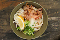 Sanuki Udon- Japan's best udon noodles, from the Kagawa region - served cool in summer at a local restaurant.