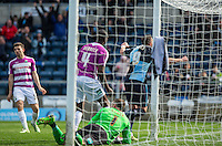 Paul Hayes of Wycombe Wanderers turns to celebrate his goal during the Sky Bet League 2 match between Wycombe Wanderers and Barnet at Adams Park, High Wycombe, England on 16 April 2016. Photo by Andy Rowland.