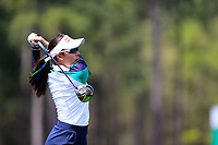 Atthaya Thitikul (THA) on the 1st during the second round of the Augusta National Womans Amateur 2019, Champions Retreat, Augusta, Georgia, USA. 04/04/2019.<br /> Picture Fran Caffrey / Golffile.ie<br /> <br /> All photo usage must carry mandatory copyright credit (&copy; Golffile | Fran Caffrey)