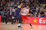 League ACB-ENDESA 2017/2018 - Game: 20.<br /> FC Barcelona Lassa vs Retabet Bilbao Basket: 90-58.<br /> Victor Claver vs Alex Mumbru.