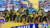 BARRANCABERMEJA- COLOMBIA, 24-10-2019: Jugadores de Alianza Petrolera posan para una foto, antes de partido entre Alianza Petrolera y Atlético Junior de la fecha 19 por la Liga Águila II 2019 en el estadio Daniel Villa Zapata en la ciudad de Barrancabermeja. / Players of Alianza Petrolera pose for a photo, prior a match between Alianza Petrolera and Atletico Junior of the 19th date for the Liga Águila II 2019 at the Daniel Villa Zapata stadium in Barrancabermeja city. Photo: VizzorImage  / José D Martínez / Cont.