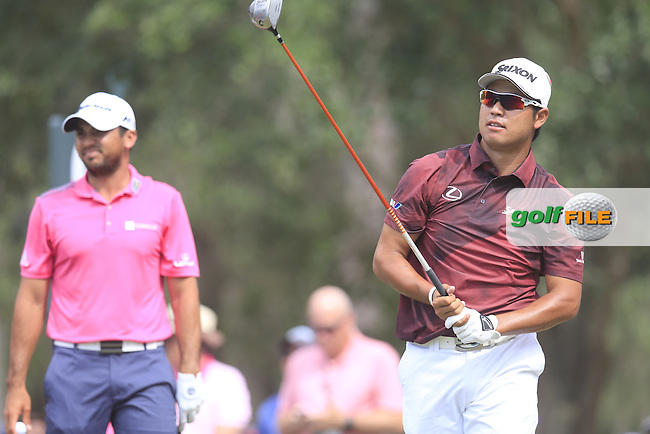Hideki Matsuyama (JAP) on the 9th tee during the final round of the Players, TPC Sawgrass, Championship Way, Ponte Vedra Beach, FL 32082, USA. 15/05/2016.<br /> Picture: Golffile | Fran Caffrey<br /> <br /> <br /> All photo usage must carry mandatory copyright credit (&copy; Golffile | Fran Caffrey)