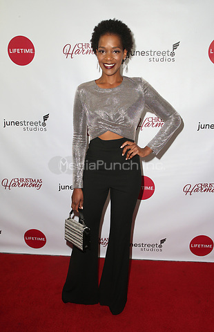"LOS ANGELES, CA - NOVEMBER 7: Kelsey Scott, at Premiere of Lifetime's ""Christmas Harmony"" at Harmony Gold Theatre in Los Angeles, California on November 7, 2018. Credit: Faye Sadou/MediaPunch"