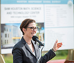 Houston ISD Trustee Anna Eastman comments during a groundbreaking ceremony for new Sam Houston Math, Science and Technology Center School, March 24, 2017.