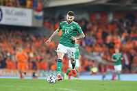 16th November 2019; Windsor Park, Belfast, County Antrim, Northern Ireland; European Championships 2020 Qualifier, Northern Ireland versus Netherlands; Northern Ireland's Stuart Dallas brings the ball forward - Editorial Use