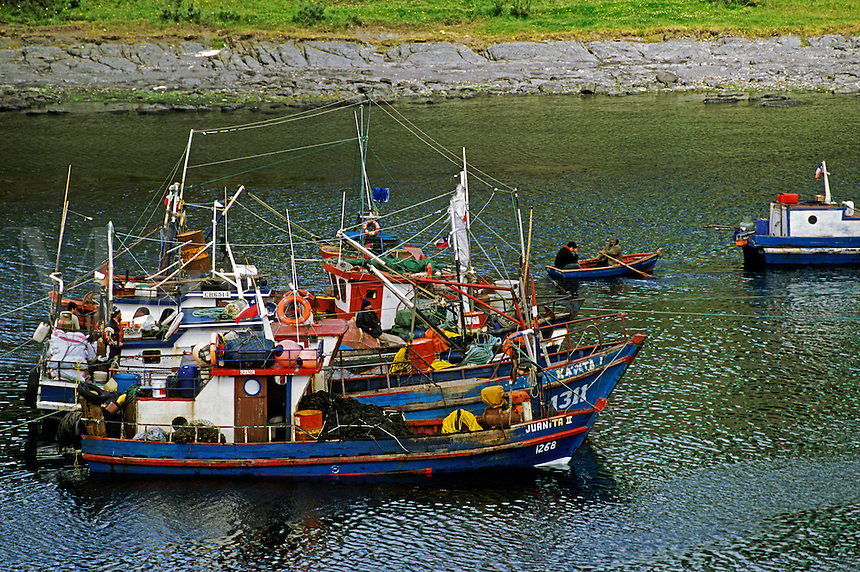 PUERTO HAMBRE, now a FISHING VILLAGE, was the first settlement on the STRAIT OF MAGELLAN - PATAGONIA, CHILE
