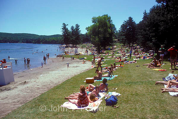 Beach at Lac Phillipe, Gatineau Park, Quebec