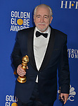 Brian Cox 157 poses in the press room with awards at the 77th Annual Golden Globe Awards at The Beverly Hilton Hotel on January 05, 2020 in Beverly Hills, California.
