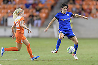 Houston, TX - Sunday Sept. 25, 2016: Denise O'Sullivan, Keelin Winters during a regular season National Women's Soccer League (NWSL) match between the Houston Dash and the Seattle Reign FC at BBVA Compass Stadium.