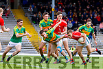 Darragh Moynihan East Kerry in action against Brian Sugrue South Kerry in the Kerry Senior Football Championship between South Kerry and East Kerry at Fitzgerald Stadium Killarney on Sunday.
