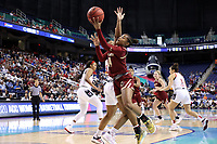 GREENSBORO, NC - MARCH 07: Marnelle Garraud #14 of Boston College shoots the ball during a game between Boston College and NC State at Greensboro Coliseum on March 07, 2020 in Greensboro, North Carolina.