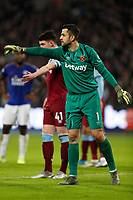 28th December 2019; London Stadium, London, England; English Premier League Football, West Ham United versus Leicester City; Goalkeeper Lukasz Fabianski of West Ham United - Strictly Editorial Use Only. No use with unauthorized audio, video, data, fixture lists, club/league logos or 'live' services. Online in-match use limited to 120 images, no video emulation. No use in betting, games or single club/league/player publications